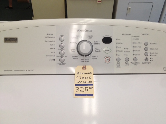 Kenmore Elite Oasis Canyon Capacity 325 00